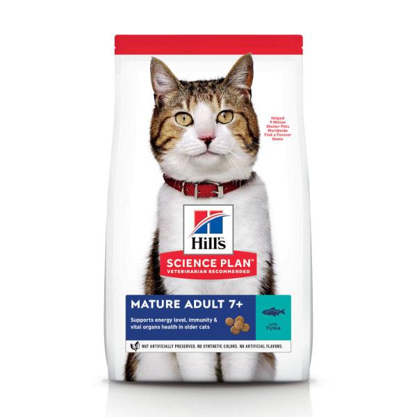 Hill's Science Plan Mature Adult 7+ Dry Cat Food Tonijn