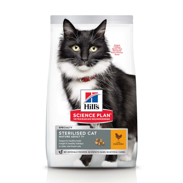 Hill's Science Plan Mature Adult 7+ Sterilised Cat Dry Cat Food Kip