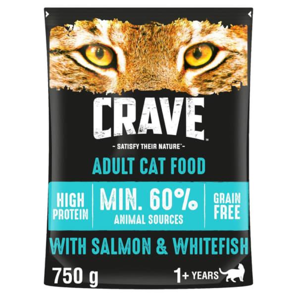 Crave mit Lachs & Weißfisch für Katzen