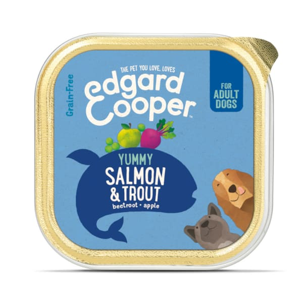 Edgard & Cooper Yummy Grain Free Adult Wet Dog Food Cup - Salmon & Trout