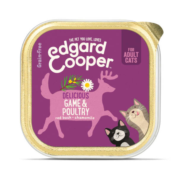 Edgard & Cooper Delicious Grain Free Adult Wet Cat Food - Game & Poultry