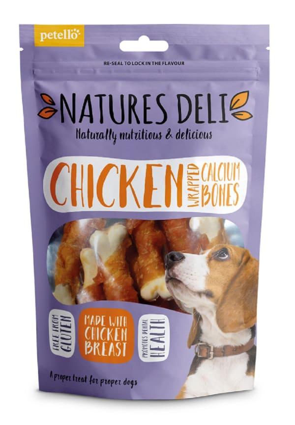 Natures Deli Wrapped Calcium Bone Adult Dog Treats - Chicken