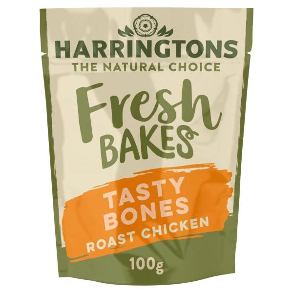 Harringtons Fresh Bakes Tasty Bones Dog Treats - Roast Chicken