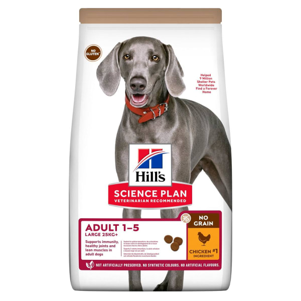 Hill's Science Plan No Grain Large Adult Dry Dog Food - Chicken