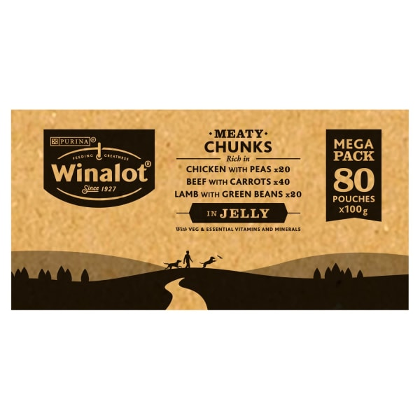 Winalot Meaty Chunks Adult Wet Dog Food - Mixed Selection in Jelly