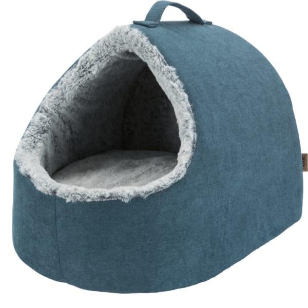Lit bleu d'animal familier de caverne câlin