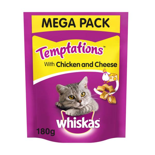 Whiskas Temptations Adult Cat Treats - Chicken & Cheese