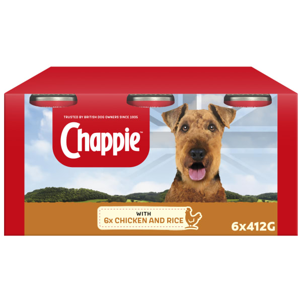 Chappie Adult Wet Dog Food Tins - Chicken & Rice