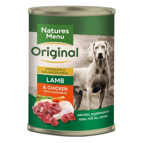 Natures Menu Adult Original Wet Dog Food Cans - Lamb & Chicken