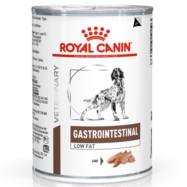Royal Canin Veterinary Diet Gastrointestinal Low Fat voor honden (blik)