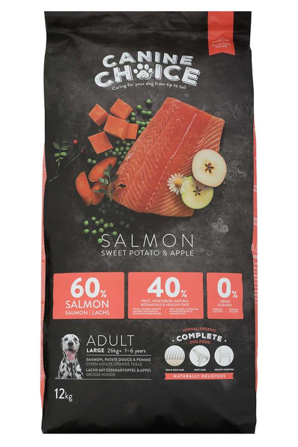 Croquettes pour chien de grande taille Canine Choice - Saumon