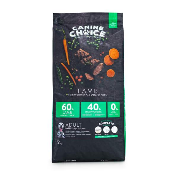 Canine Choice Grain Free Large Adult Dry Dog Food - Lamb