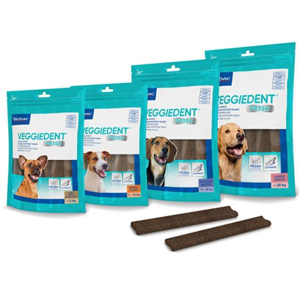 Virbac Veggiedent Snacks Dog Treats - Medium Dog