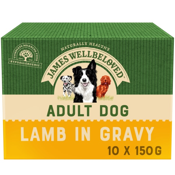 James Wellbeloved Adult Wet Dog Food Pouches - Lamb & Rice in Gravy