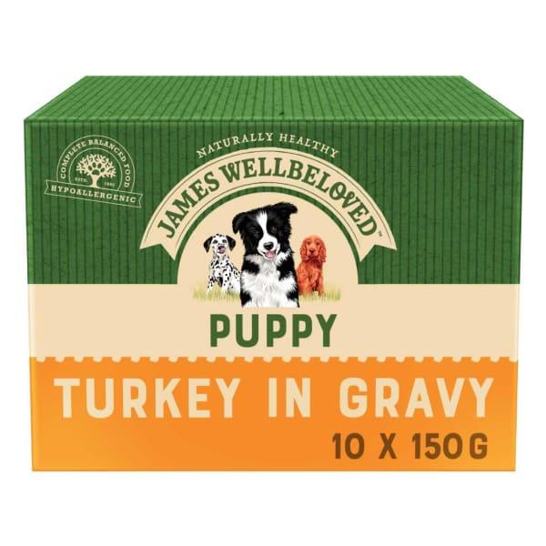James Wellbeloved Puppy/Junior Wet Dog Food Pouches - Turkey & Rice