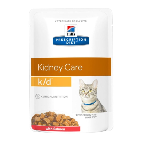 Hill's Prescription Diet Kidney Care k/d Wet Cat Food in Gravy - Salmon