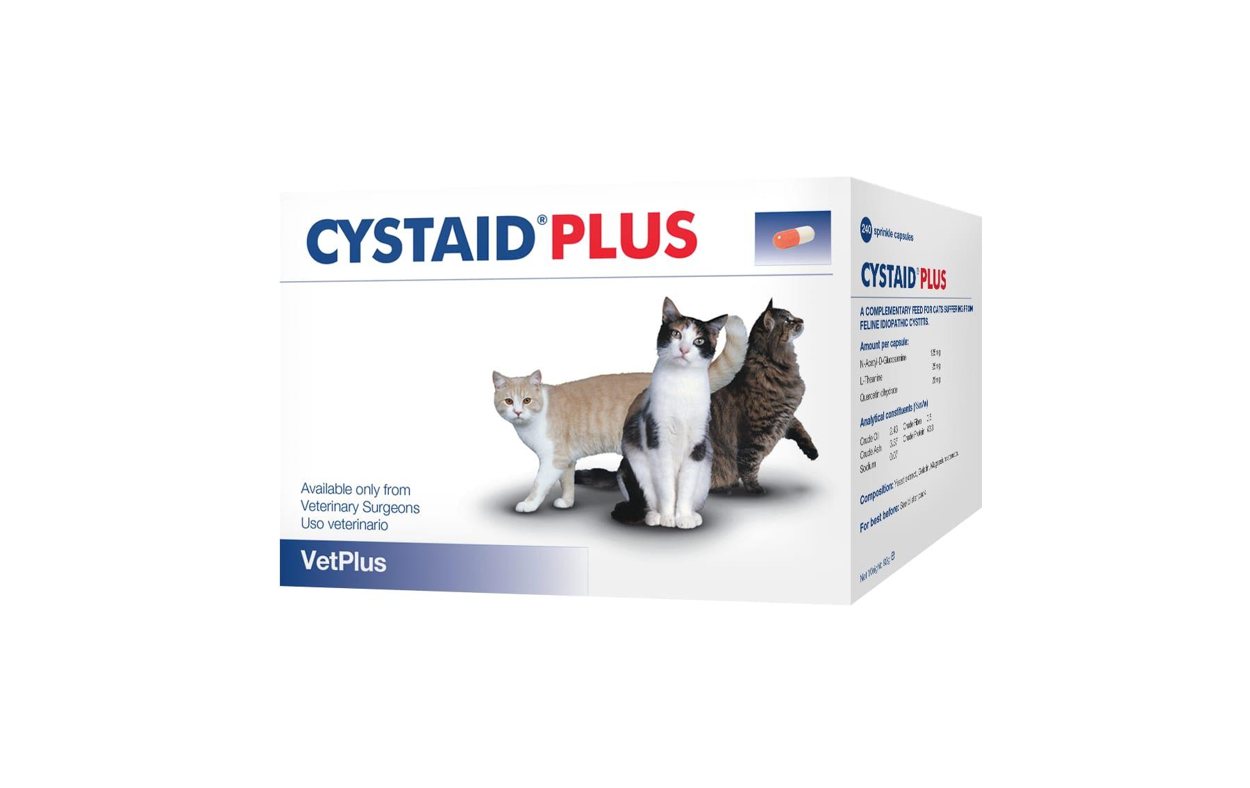 Feline Cystaid Plus Capsules - 240 Capsules